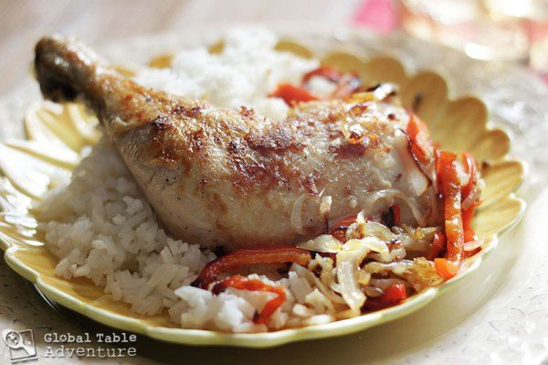 In this chicken dish, we see traces of mainland Africa, Asia and Polynesia. The coconut oil gives the chicken just a hint of Polynesian tradition, while the garlic, and ginger play into Asian flavors. Finally, the lemon rind gives a fresh, yet slightly bitter flavor, reminiscent of north African cooking.....