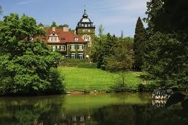 Bergisch Gladbach, Germany (to the east of Cologne): a picture showing Lerbach Castle (Schloss Lerbach)...
