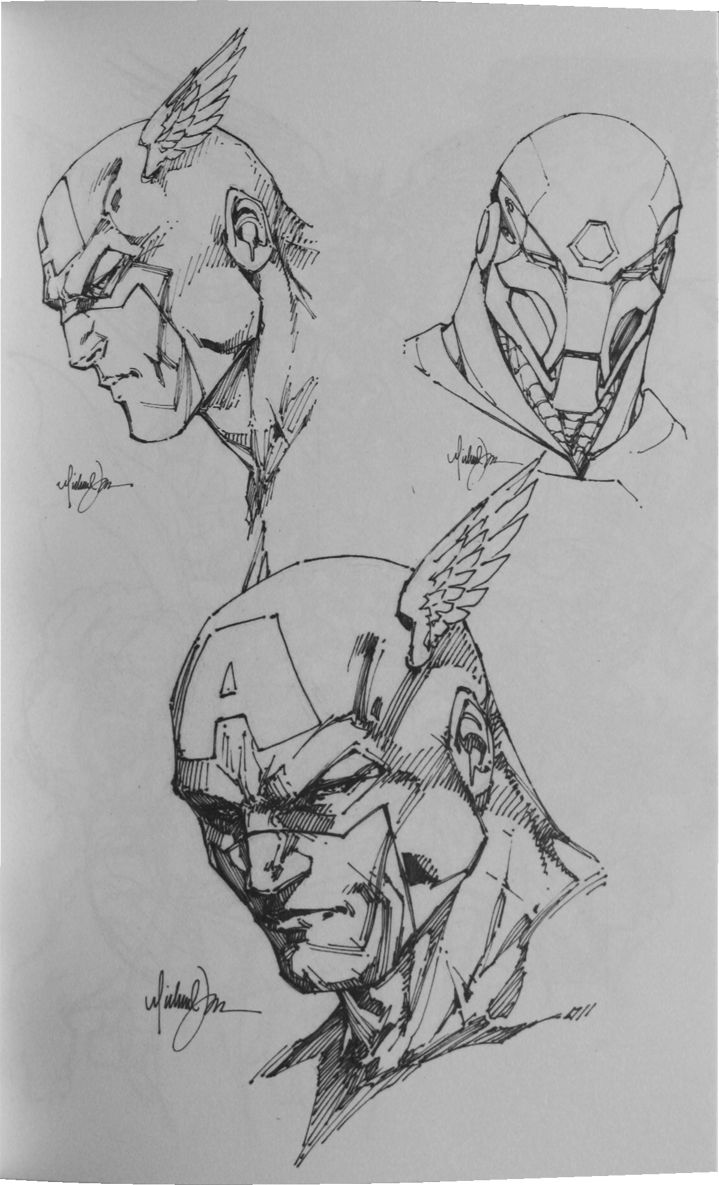 Michael Turner, Captain America - He was a great American comic book artist! He's greatly missed.