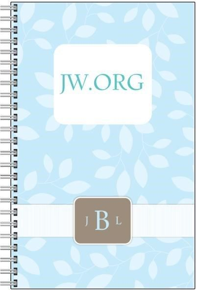 PICK YOUR COLOR w/ custom Monogram Notebook JW.org Jehovah's Witnesses Gift Note