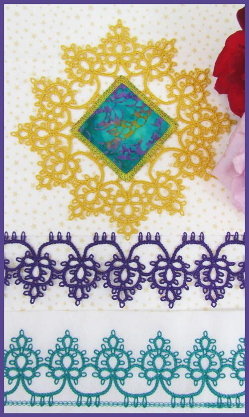 would like to try a pattern like this. It's not a tatting pattern