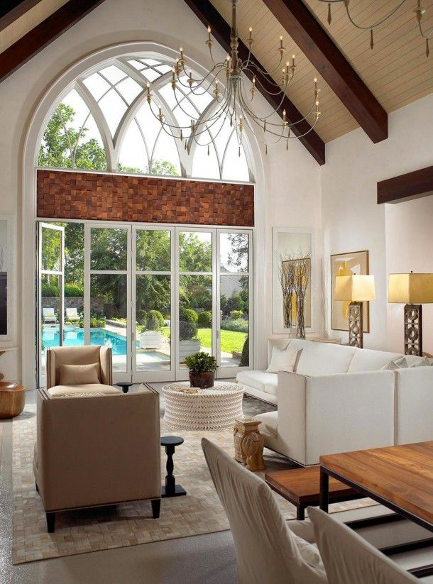 Abstract painting in luxury living room