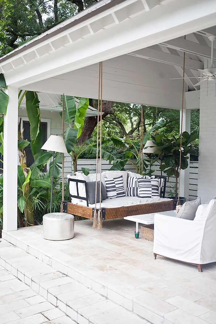 Here's How to Decorate a Front Porch That Will Make Guests Swoon via @MyDomaine