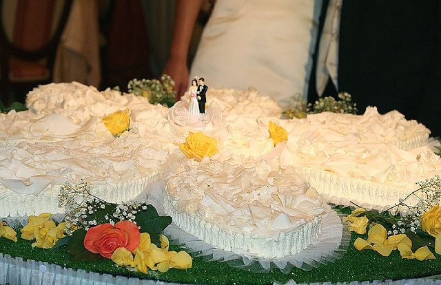 This Cake Was Served At A Wedding Reception In Sicily. The Cake Itself Was A