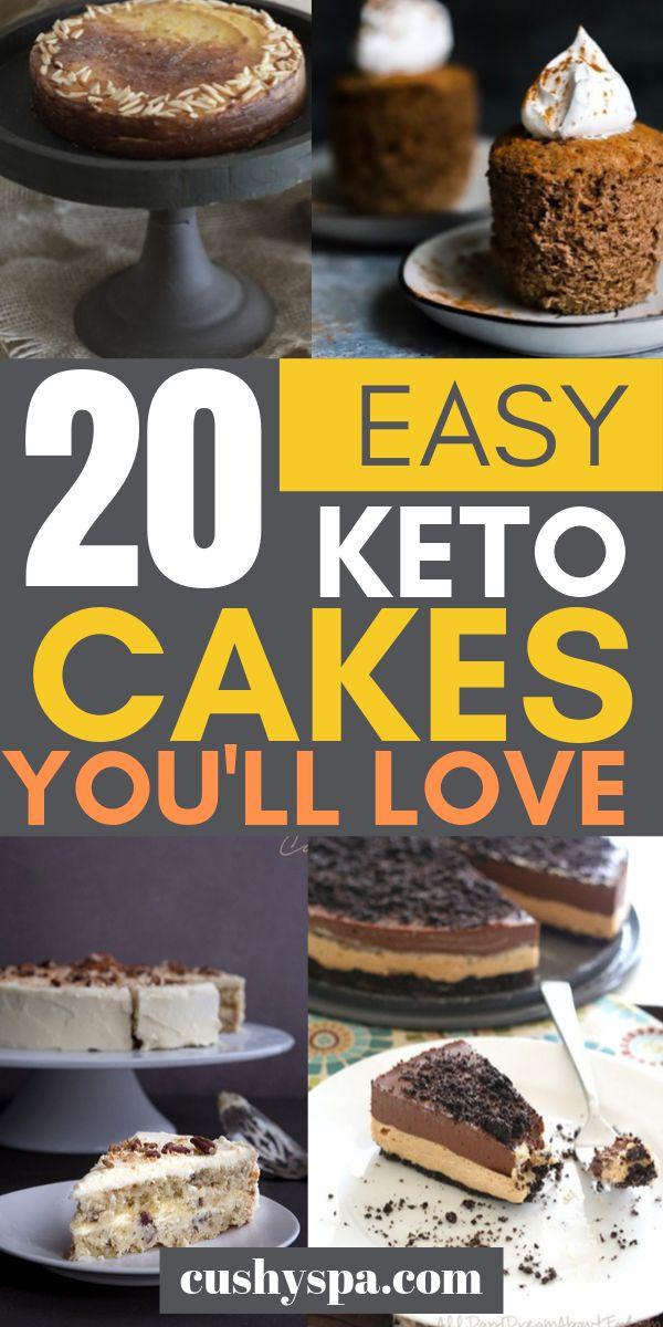 20 pasteles Keto fáciles que te encantarán