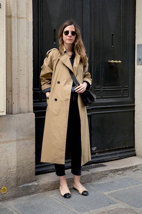 Pin On Fashion Tends Street Style, All Black Trench Coat Outfit