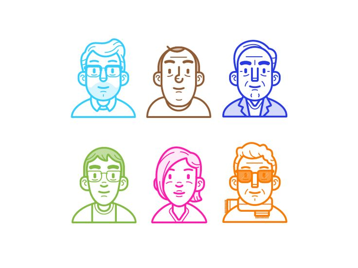 Here are some avatars I created for Shift for some internal stuff. I used the base Avatar Creator Kit I've been working on for Vector Mill. This was a good project to see how they worked out.