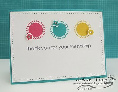 Stamps: Seeing Spots, Itty Bitty Bits (both SU!). Greeting by Hero Arts. Cardstock: Whisper white, bermuda bay Ink: melon mambo, bermuda bay...