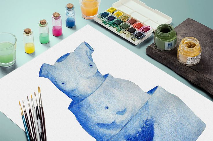 A nude - A surreal watercolor on Behance