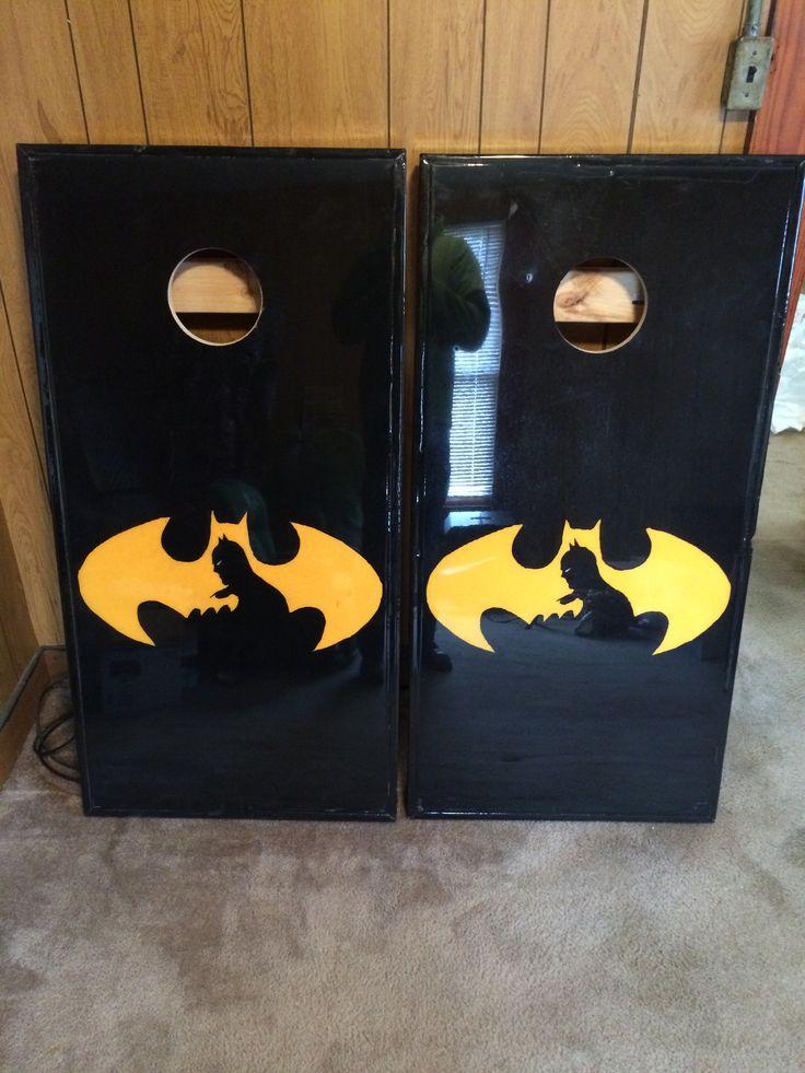 Batman cornhole boards cornhole boards pinterest