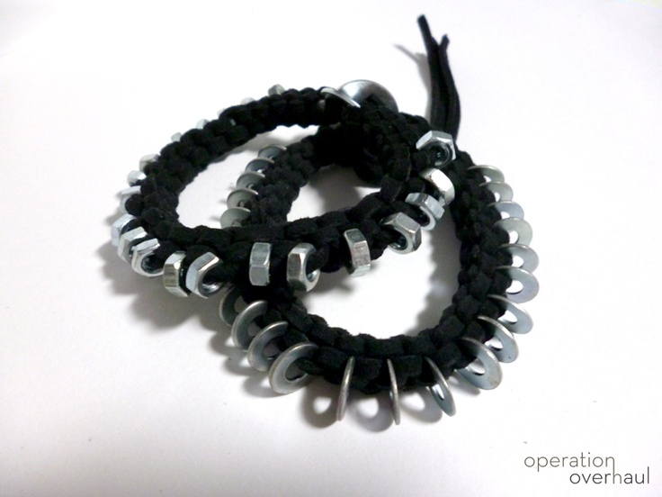 DIY Tutorial: Hex Nut Box Braid Bracelet