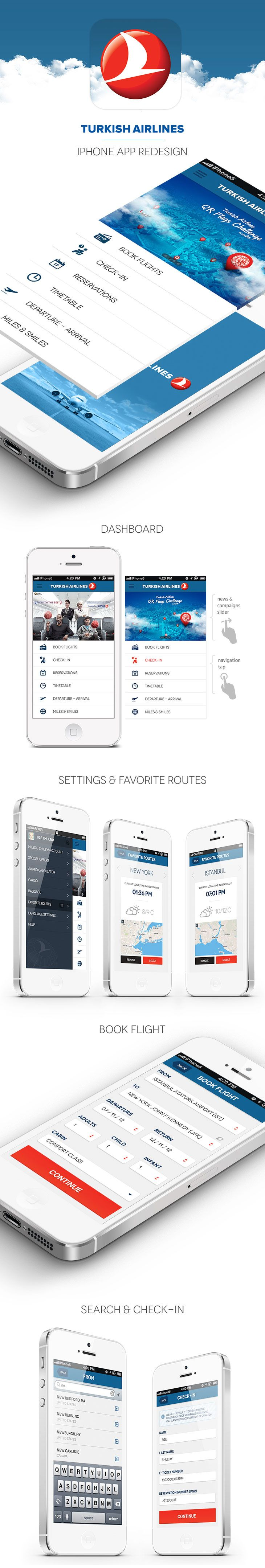 Turkish Airlines iPhone App Redesign