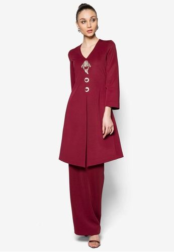 Kebayoran Kebaya from Rizalman for Zalora in red_1