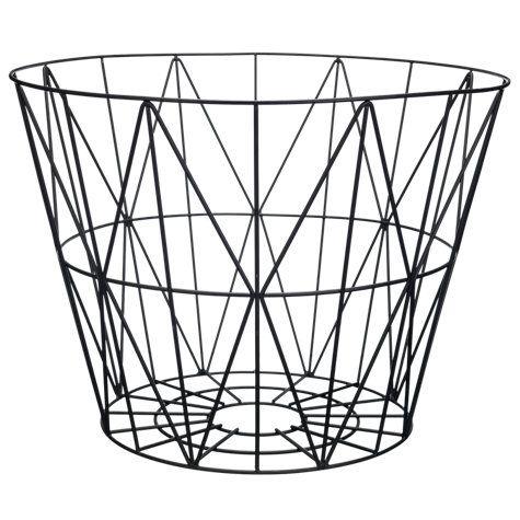 Buy Ferm LIVING Wire Storage Basket, Large, Black Online At Johnlewis.com