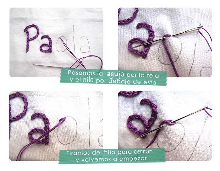 ¡Aprende a bordar un nombre a mano y personaliza todos tus proyectos con este paso a paso cargado de imágenes! DIY