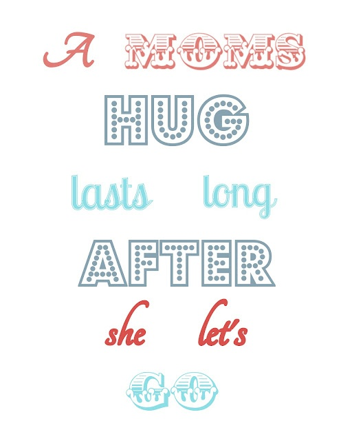 Mother's Day Printable: Moms Hug, Craft, Mothers, Quote, Holidays, Free Printable, Mother'S Day