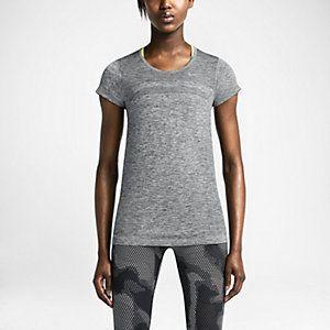 Женская футболка для бега Nike Dri-FIT Knit Short-Sleeve