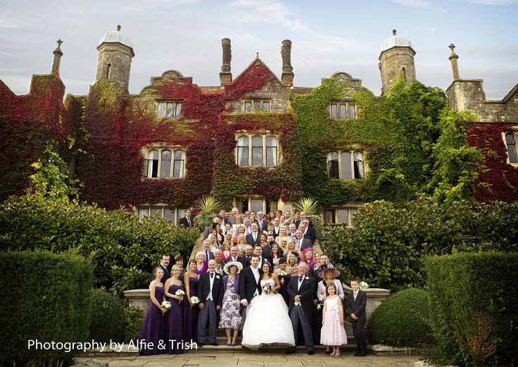 Bridal Party on stairs, Eastwell Manor