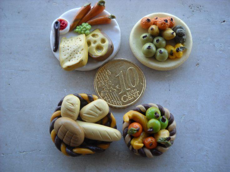 miniature di cibo in fimo