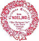 If you bundle-up and mail your Christmas cards to Noel Missouri - you get a special Christmas postmark!