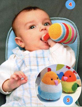 Развивающие игрушки для новорожденных. Вяжем крючком