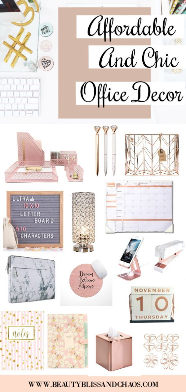 From Bulletin Boards To Stylish Storage Solutions To Chic Desk Accessories Yo Home De Desk Accessories Chic Office Decor Desk Accessories Chic Desk