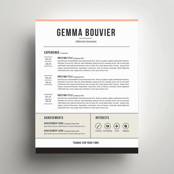 40 best Resume Templates images on Pinterest Cv resume template - correspondent resume