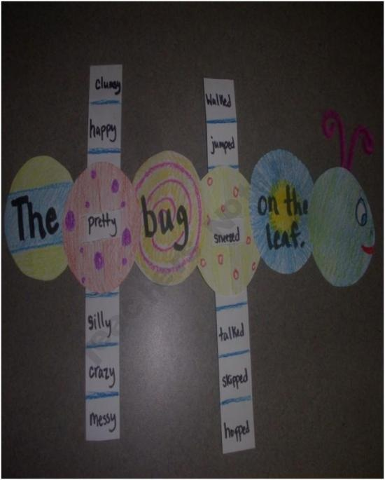 Slider Word Caterpillar....teaching exciting verbs, adjectives, and can be linked to the science life cycles unit :)))) fun friday art activity