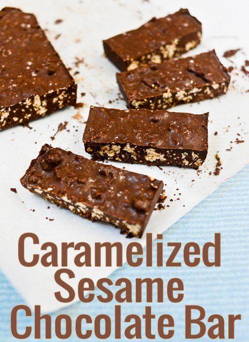Caramelized Sesame Chocolate Bar