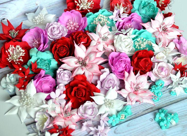 Foamiran flowers. / Kwiaty z foamiranu.