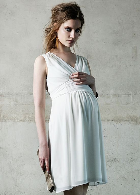 Queen Bee Liane Maternity Cocktail Dress in Off-White by Noppies