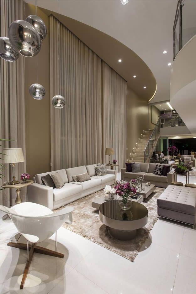 Salas de estar tv e jantar integradas maravilhosas for Mesas de televisor modernas
