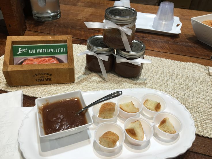 Blue Ribbon Apple Butter goes perfectly with our freshly baked croissants!  Delicious!