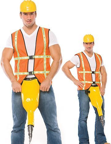 Jack Hammer | 25 Sexy Halloween Costumes For Men That Should NOT Exist... I can't believe some of these DO exist! I can't imagine some of them are intended for Halloween though... Still pretty funny!