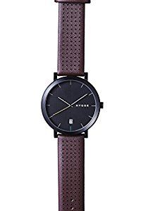 Hygge 2203 Unisex Quartz Watch with Black Dial Analogue Display and Red Leather Strap MSL2203BC(BO): Amazon.co.uk: Watches