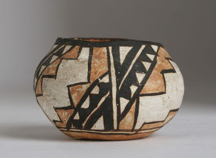 Small Early Acoma Pueblo Pottery Olla-Bowl / Native American-Southwest-Santa Fe #AcomaPueblo