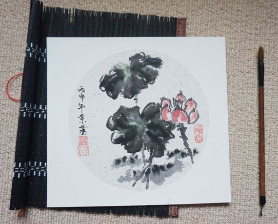 Best chinese ink brush painting and calligraphy images on