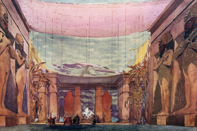 "Léon Bakst's set design for ""Cleopatra"" or ""Nuit d""Egypte"" (1909)"
