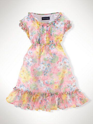 Polo Ralph Lauren Little Girls' Chiffon Dress - Ralph Lauren Girls - Macy's