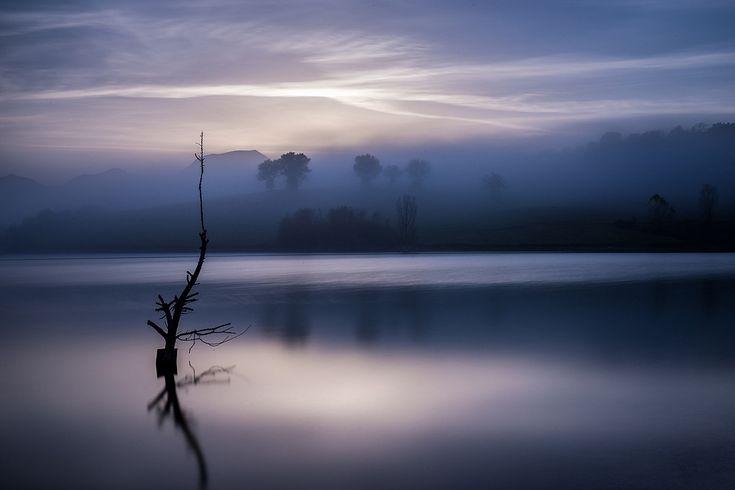 ora blu al lago di Cingoli