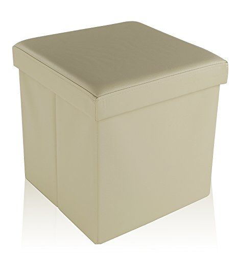 "MULTIPURPOSE: Not only do these storage ottomans by Dualplex add a touch of decorative flair to your space, they also provide a bit of extra storage around the home, office or classroom. STRONG AND STURDY: Our 15"" x 15"" storage ottoman cubes are built tough with Thickened E1 Standard MDF construction in order to offer a load capacity of up to 600 Lbs! COMFORTABLE: These storage cubes are extremely comfortable due to the cushioned top, that allows them to be used as extra seating whe..."