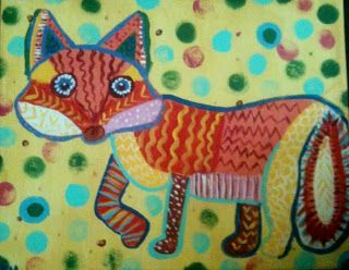Angela Anderson Art Blog: Whimsical Fox Painting - After School Art