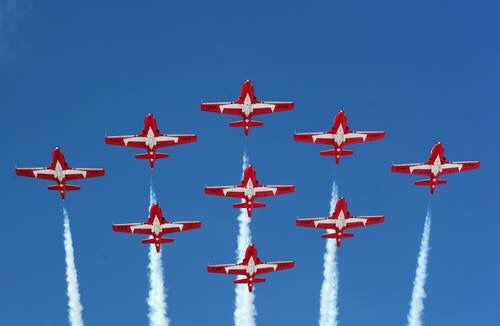 I love watching the snowbirds perform.