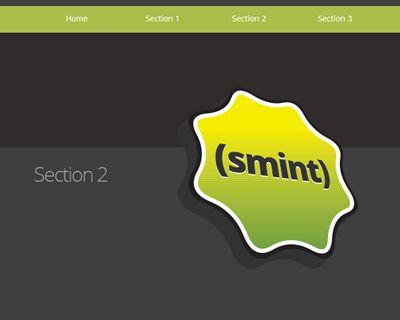 Smint – jQuery Sticky Menu with Smooth Navigation