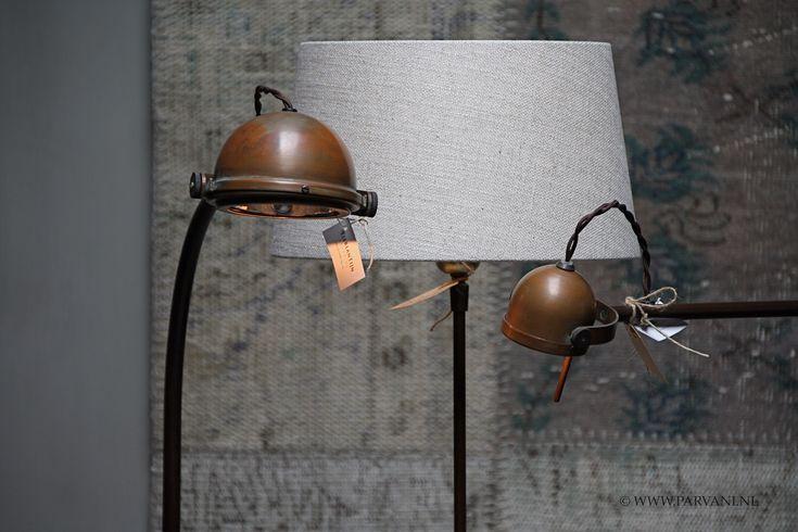 Parvani | Staande-lampen-Tierlantijn-koper-spezia-lupia-leeslamp