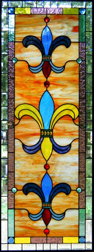 Fleur De Lis Stained Glass Window