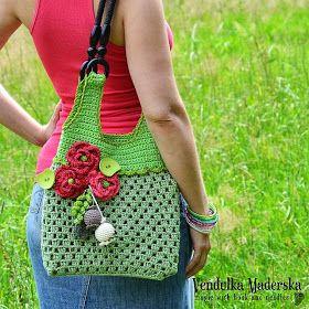 Crochet red poppy flower pattern