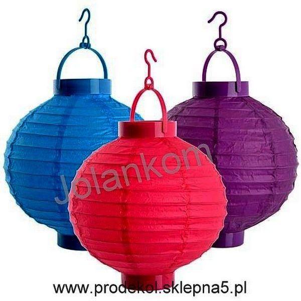 LAMPION WISZĄCY NA BATERIE Z ŻARÓWKĄ LED - cała gama kolorów