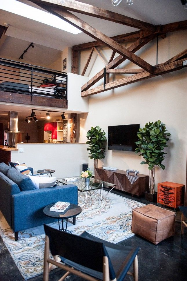 Save this for a look into a gorgeous loft makeover.