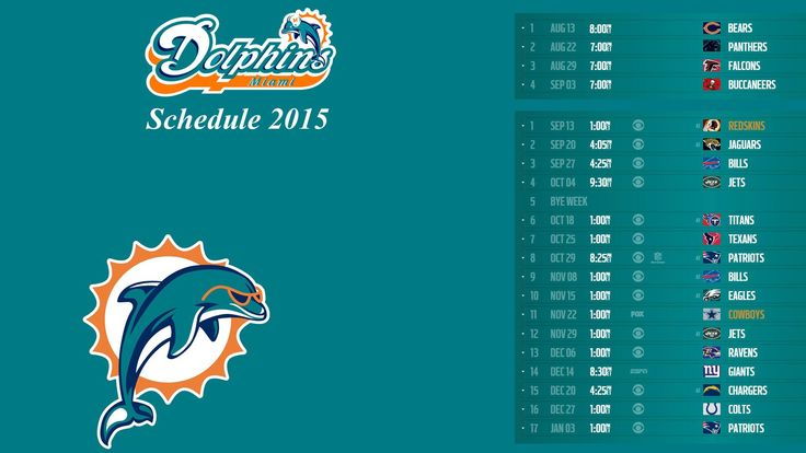 Miami dolphins schedule 2015 – Free full hd wallpapers for 1080p ...